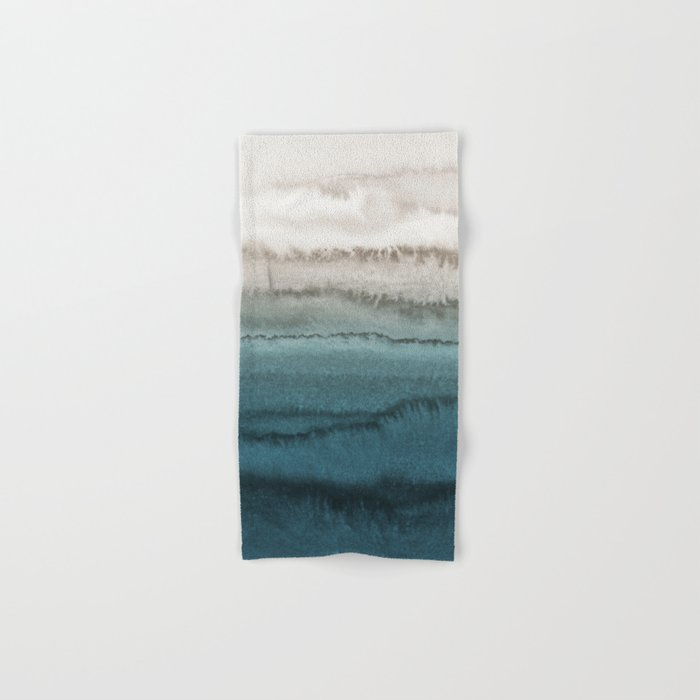 WITHIN THE TIDES - CRASHING WAVES TEAL Hand & Bath Towel