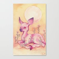 fawn Canvas Prints featuring Fawn by Henna Hakulinen