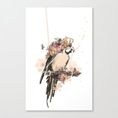Pearly Parrot  Canvas Print