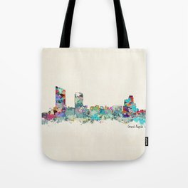 Grand Rapids Michigan skyline Tote Bag