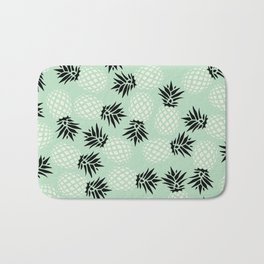 Mint Pineapple Pattern 023 Bath Mat