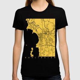 Burlington map yellow T-shirt