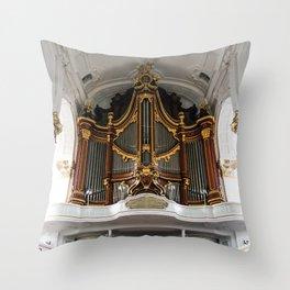 Sankt Michaelis Church, Hamburg Throw Pillow