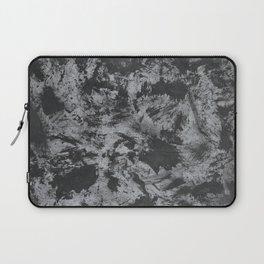 Black Ink on Grey/Gray Background Laptop Sleeve