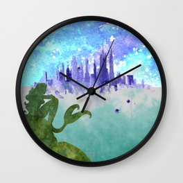 A Mermaids Gaze Wall Clock