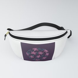 Circular Pink Floral Pattern Design Fanny Pack