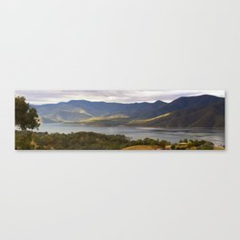 Mountain Bay Panorama Canvas Print
