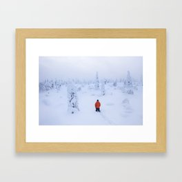 Deep in snow Framed Art Print