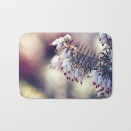 White Heather Calluna Flower Bath Mat