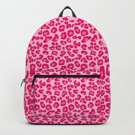 Leopard Print in Pastel Pink, Hot Pink and Fuchsia Backpack
