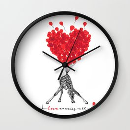 Love carries All! Wall Clock