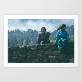Nepalese Kids  Art Print