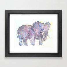 Twilight Elephants Framed Art Print