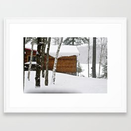 BABY IT'S COLD OUTSIDE Framed Art Print