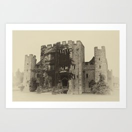 Hever Castle Yellow Plate Art Print