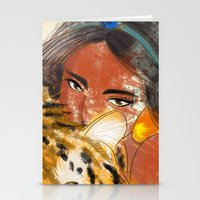 jasmine Stationery Cards featuring Jasmine by Camila Marina Dos Anjos