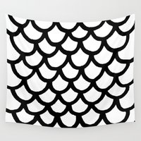 scales Wall Tapestries featuring Scales by Geryes