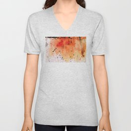 Red Abstract Art - Taking Chances - By Sharon Cummings Unisex V-Neck
