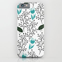 Kiwi Garden - black and blue iPhone Case