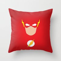 the flash Throw Pillows featuring FLASH by Roboz