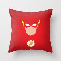 flash Throw Pillows featuring FLASH by Roboz