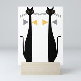 Mid-Century Modern Art Cat Double 1.0T Mini Art Print