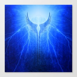 Vikings Valkyrie Wings of Protection Storm Canvas Print