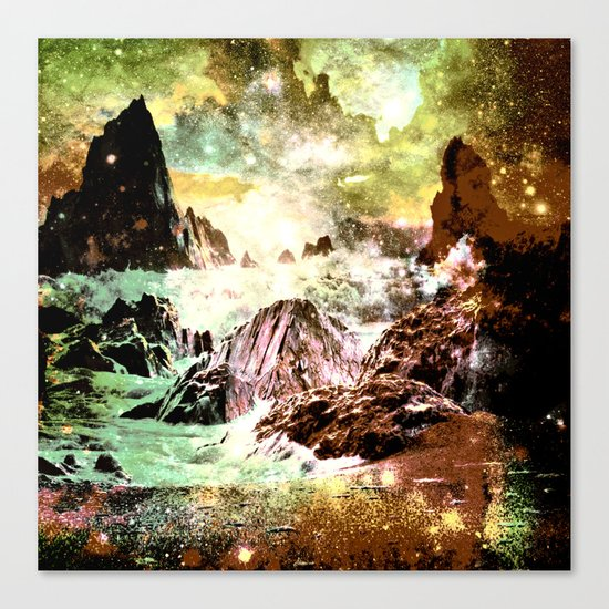 space mountains Canvas Print