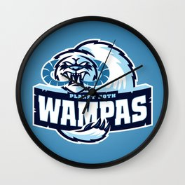 Planet Hoth Wampas - Blue Wall Clock