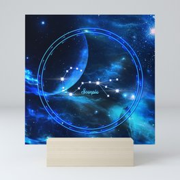 Zodiac constellation scorpio Mini Art Print
