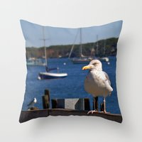 maine Throw Pillows featuring Maine Local by Catherine1970