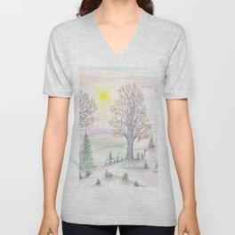Paths to the Sunny Side Unisex V-Neck