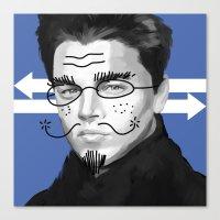 leonardo dicaprio Canvas Prints featuring Leonardo DiCaprio by Pazu Cheng
