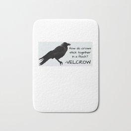Crow Velcrow Funny Crow Pun Bath Mat