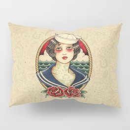 Sailor Girl Tattoo Pillow Sham