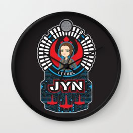 Jyn the rebel Wall Clock