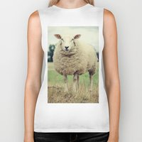 sheep Biker Tanks featuring Sheep by Falko Follert Art-FF77