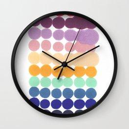 Imperfect / dot pattern Wall Clock