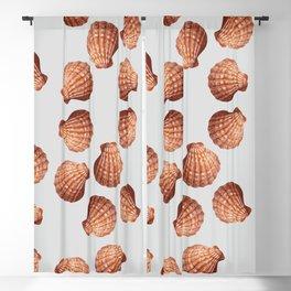 Grey Big Clam pattern Illustration design Blackout Curtain