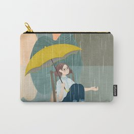 Lonely Girl In Rain Day Carry-All Pouch