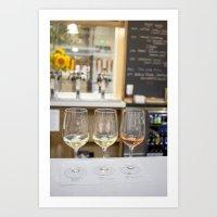 Wine Time in Santa Barbara, California Art Print