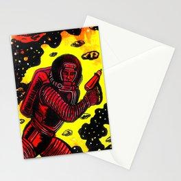 Retro Rocketman Stationery Cards