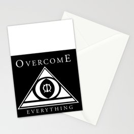 Over Come Everything Stationery Cards