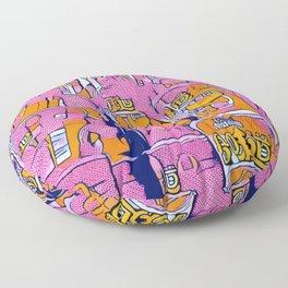 PopArt Noodles Pink in Milano Floor Pillow