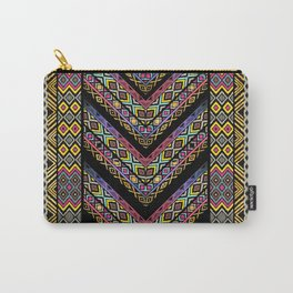 Colorful Ikat borders art Carry-All Pouch