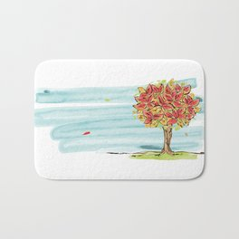 The sound of the leaves Bath Mat