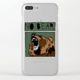 No Bear Clear iPhone Case