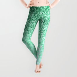 seafoam green glitter Leggings