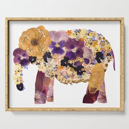 Floral Elephant Serving Tray