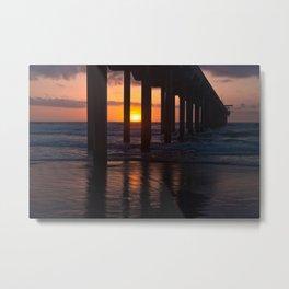Sunset Captured Metal Print